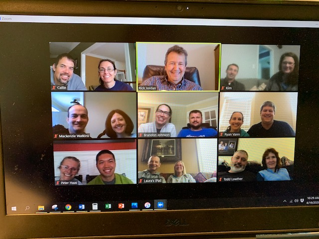 Me (top center) with my Bible study class on Zoom.