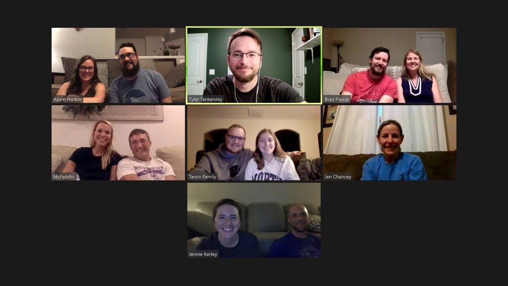 Pastor visits young adult Bible study via Zoom